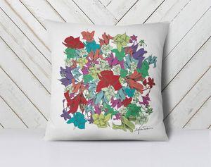 la Magie dans l'Image - coussin fleurs motif - Kissen Quadratisch