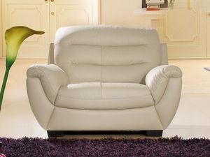 WHITE LABEL - fauteuil en cuir coral - Sessel