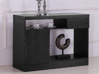 WHITE LABEL - buffet bois noir woody - Anrichte