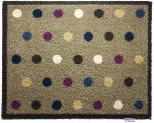 HUG RUG - tapis en fibres naturelles à pois 65x150 cm - Fussmatte