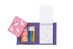 BERTOY - colouring sets unicorn magic - Malbuch