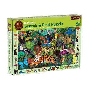 BERTOY - search & find puzzle rainforest - Kinderpuzzle