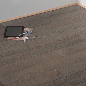 PARQUET CHENE MASSIF - aspect scie gris loft - Naturholzboden