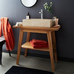 BOIS DESSUS BOIS DESSOUS - meuble de salle de bain en bois de teck 80 - Badezimmermöbel