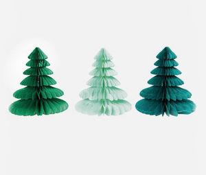 MY LITTLE DAY - 3 sapins alvéolés - Weihnachtsschmuck