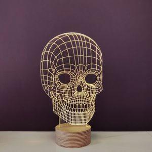 STUDIO CHEHA - skull - lampe led effet 3d - Tischlampen