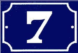 Codifa Diffusion - 1 chiffre - Hausnummerschild