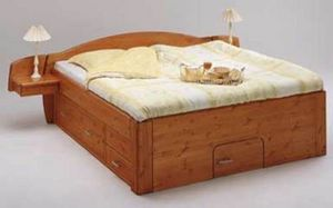 Mezzaline - multi h32 - Doppelbett Mit Bettkästen