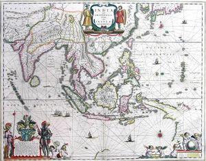 ARADER GALLERIES - india orientalis  - Landkarte