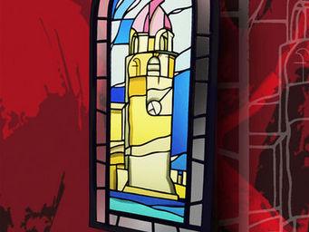Atelier 1..2..3 vitrail - phare - Buntglasfenster
