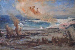 Galerie Emeric Hahn - l'enlévement de siva - Ölgemelde Auf Leinwand Und Holztafel