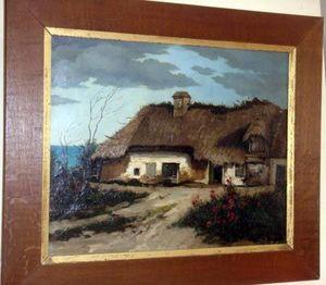 Grand Papa Antiquites -  - Ölgemelde Auf Leinwand Und Holztafel