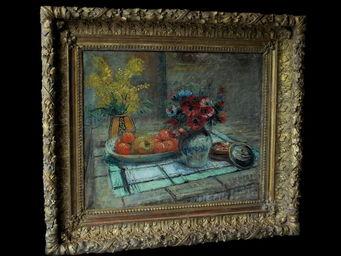 Antiquités Passion -  - Ölgemelde Auf Leinwand Und Holztafel