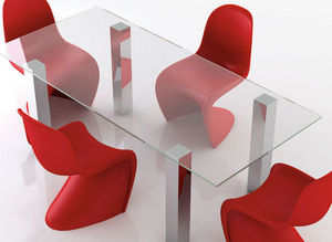 swanky design - mirage dining table - Rechteckiger Esstisch