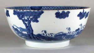 EARLE D VANDEKAR OF KNIGHTSBRIDGE - a rare chinese export underglaze-blue porcelain fo - Reisschale