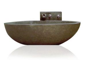 MEMOIRE DES ORIGINES - baignoire pierre taillée - Whirlpool Badewanne