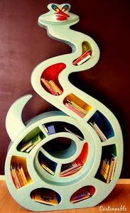 Cartonnable - adalban le serpent - Kinder Bücherregal