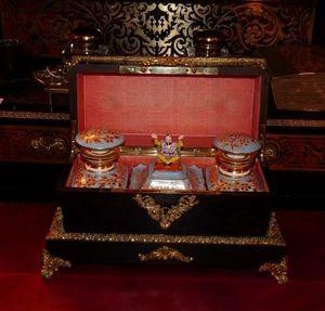 Art & Antiques - coffret napoléoniii armoiries flacons jacob petit - Teedose