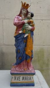 Art & Antiques - vierge malicorne xixe - Marienfigur Mit Kind