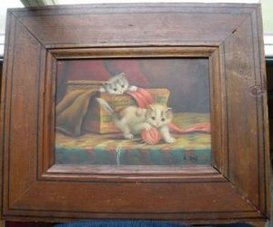 Art & Antiques - huile sur bois - Ölgemelde Auf Leinwand Und Holztafel