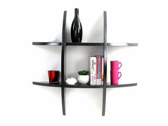 Miliboo - etagere murale design noire shark - Wandregal