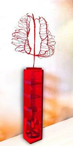 DEZARTS - le portrait rouge - Zeitgenössische Gemälde
