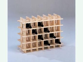 BARCLER - casier à vin en bois 24 bouteilles 71,5x22x51cm - Weinfach