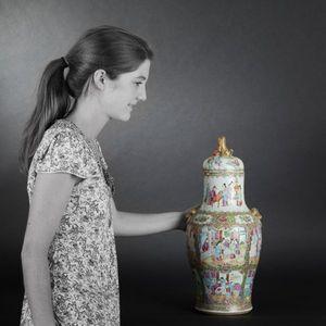 Expertissim - canton. paire de vases couverts - Vase Mit Deckel