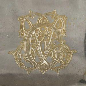 Expertissim - plat d'ornement en métal doublé - Platte