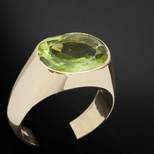 Expertissim - bague or et péridot - Ring