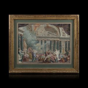 Expertissim - ecole italienne vers 1790. salomon sacrifiant aux  - Tuschezeichnung