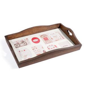 Maisons du monde - plateau photos brun authentique - Tablett