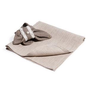Maisons du monde - serviette camelia - Tisch Serviette