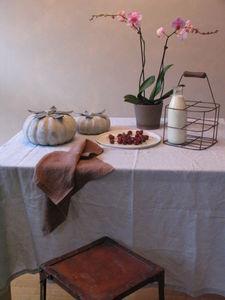 CHIARA STELLA HOME - lin lavé - stoned washed - Tischdecke Und Passende Servietten