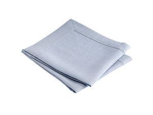 BLANC CERISE - lot de 2 serviettes de table - lin traité déperlan - Tisch Serviette