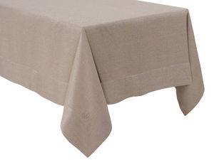 BLANC CERISE - nappe - lin déperlant - unie, brodée - Tischdecke Und Passende Servietten