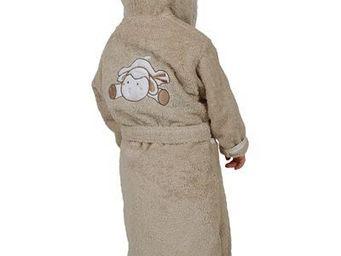 SIRETEX - SENSEI - peignoir enfant brodé doudou mouton - Kinderbademantel