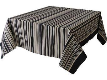 Les Toiles Du Soleil - nappe carrée tom black - Viereckige Tischdecke