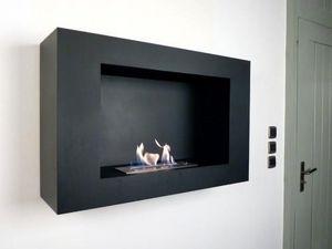 NEOFLAM - chemine bio-thanol modern screen black - Kamin Ohne Rauchabzug
