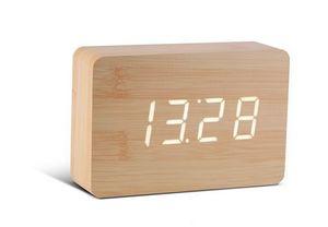 Gingko - brick beech click clock / white led - Wecker