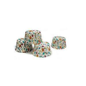 WHITE LABEL - 100 moules de cuisson en papier décoré - Kuchenform