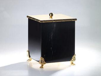 Cristal Et Bronze - obsidienne - Badezimmermulleimer