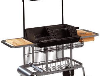 INVICTA - barbecue grilladin de luxe en fonte et bois 157x67 - Holzkohlegrill