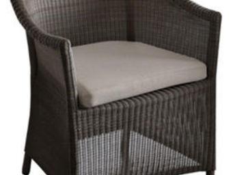 PROLOISIRS - fauteuil chicory en résine tressée marron 61x60x83 - Terrassensessel