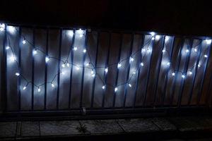 FEERIE SOLAIRE - guirlande solaire etoiles blanches 50 leds 9,3m - Lichterkette