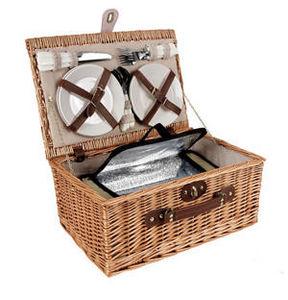 Aubry-Gaspard - panier pique-nique isotherme 4 personnes 45x30x21c - Picknickkorb