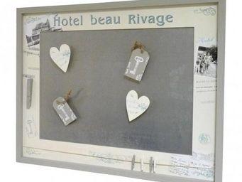 L'HERITIER DU TEMPS - tableau pêle-mêle mural à magnets en bois - Anzeigetafel