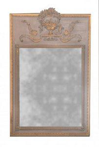 Demeure et Jardin - trumeau beige louis xvi - Trumeauspiegel