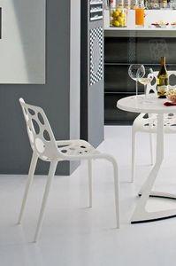 Calligaris - chaise empilable hero de calligaris blanche - Gartenstuhl