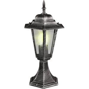 WHITE LABEL - lampe jardin lanterne sur pied exterieur - Gartenlaterne